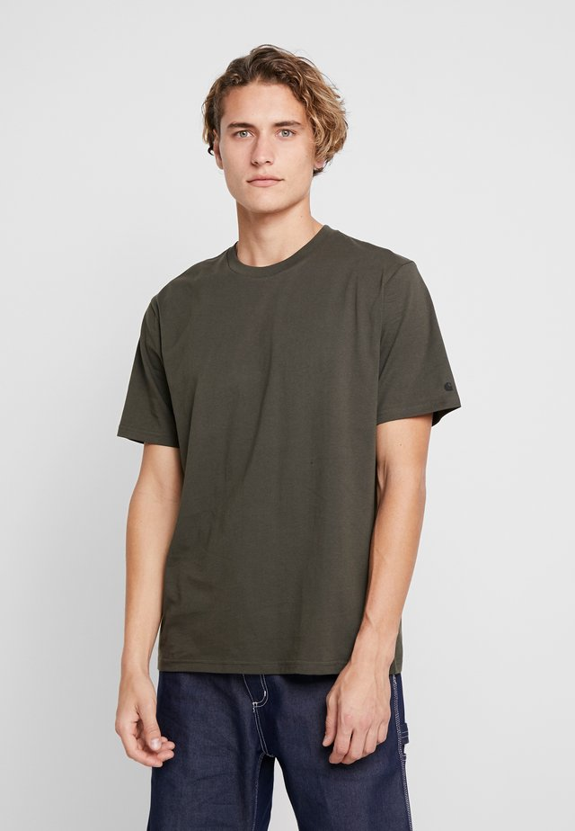 BASE  - T-Shirt basic - cypress/black