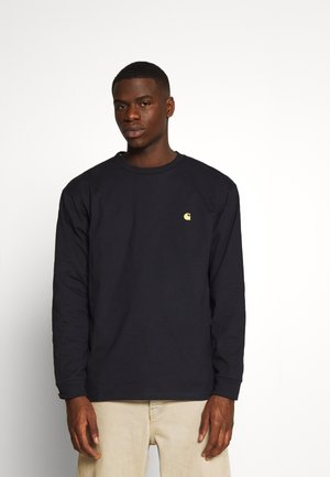 CHASE - Long sleeved top - dark navy/gold