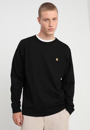 CHASE - Långärmad tröja - black/gold
