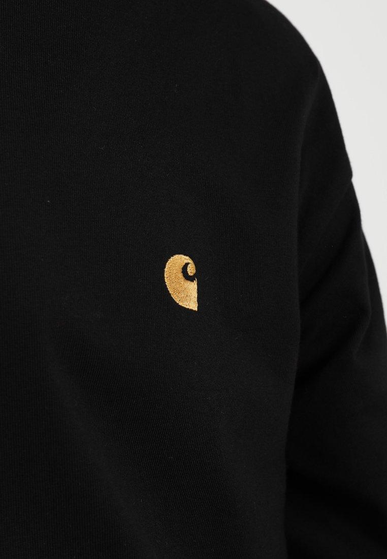 Carhartt WIP CHASE - Bluzka z długim rękawem - black/gold