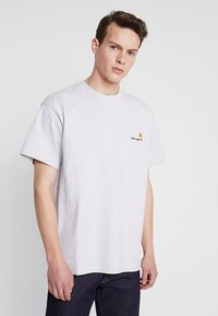 Carhartt WIP - AMERICAN SCRIPT  - T-shirt basic - ash heather - 0