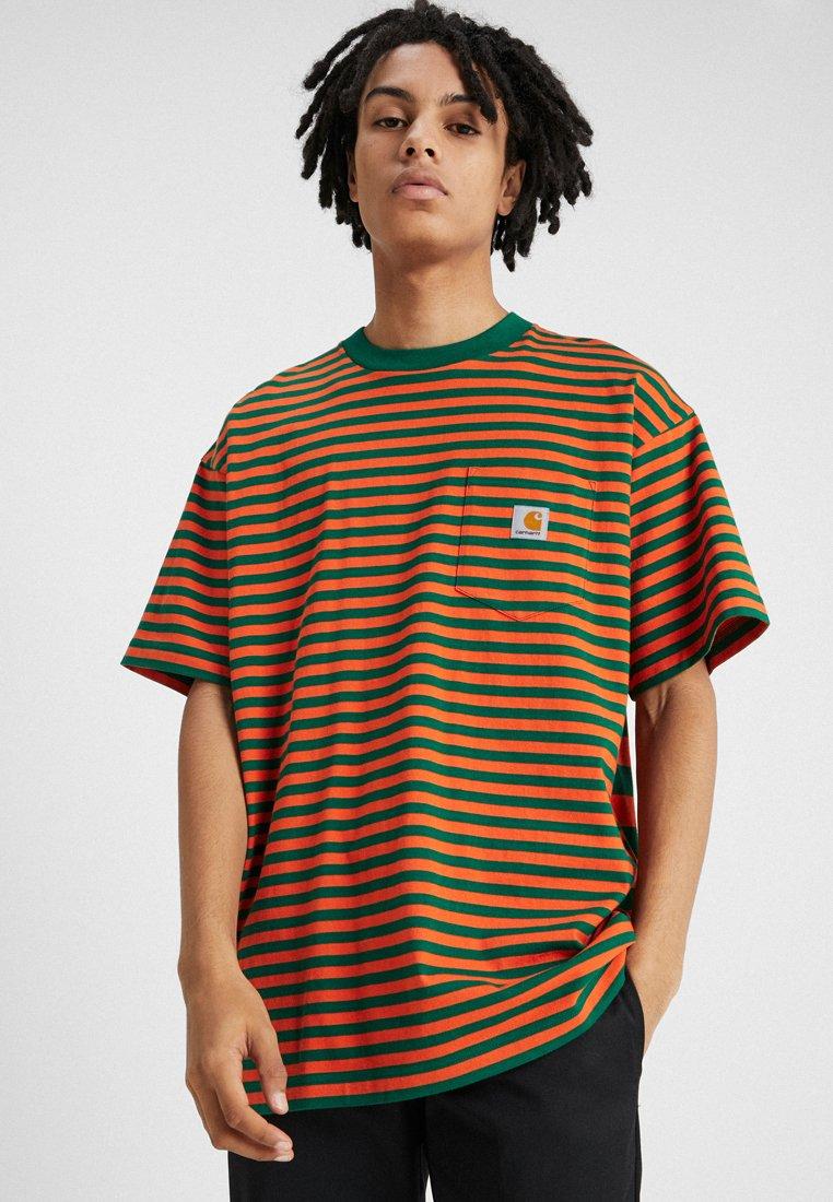 Carhartt WIP - BARKLEY POCKET  - T-shirt print - dragon/clivia