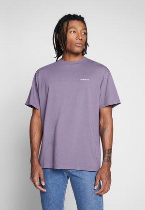 SCRIPT EMBROIDERY - Camiseta básica - decent purple/white