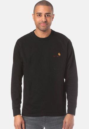 AMERICAN SCRIPT LONGSLEEVE - Pitkähihainen paita - black
