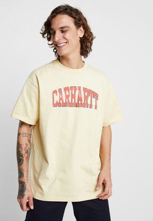 THEORY - T-shirt med print - pale yellow
