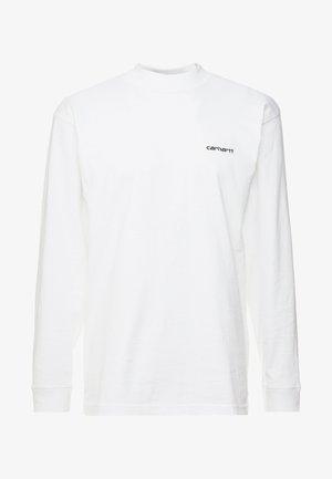 MOCKNECK SCRIPT EMBROIDERY - Top sdlouhým rukávem - white/black