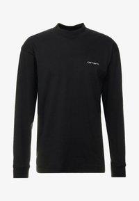 Carhartt WIP - MOCKNECK SCRIPT EMBROIDERY - Pitkähihainen paita - black/white - 4