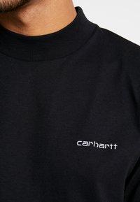 Carhartt WIP - MOCKNECK SCRIPT EMBROIDERY - Pitkähihainen paita - black/white - 5