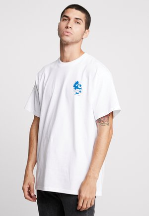 RADIO - T-shirt con stampa - white/blue