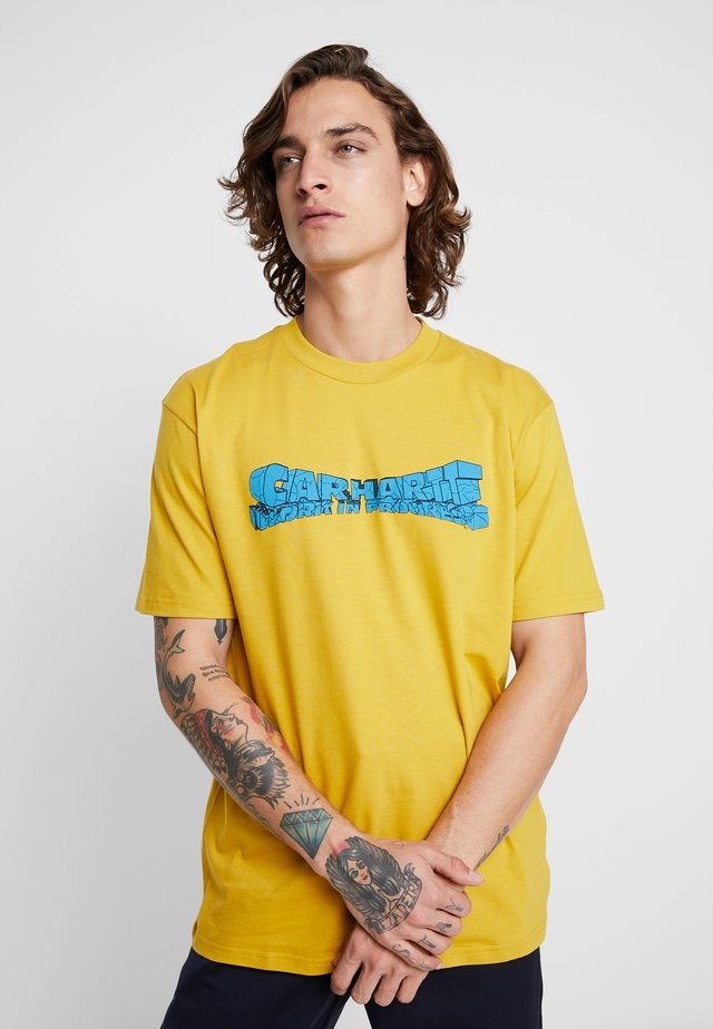 MONUMENT - T-shirt med print - colza