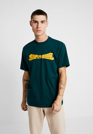 MONUMENT - T-shirt con stampa - dark fir