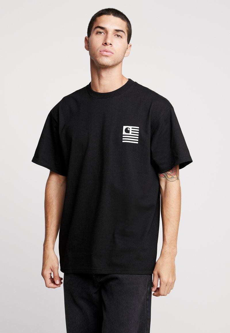 Carhartt WIP - INCOGNITO  - T-shirts med print - black / white / black