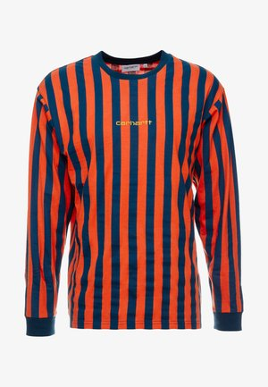 BARNETT - T-shirt à manches longues - brick orange/duck blue