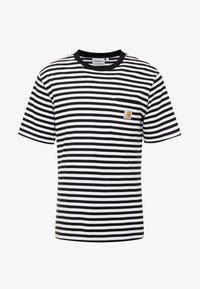 Carhartt WIP - HALDON POCKET - T-shirt med print - black/white - 3