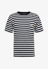 Carhartt WIP - SCOTTY POCKET  - T-shirt imprimé - dark navy / white - 4