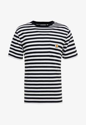 SCOTTY POCKET  - Camiseta estampada - dark navy / white