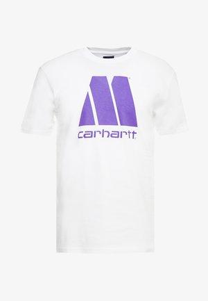 MOTOWN X CARHARTT - Camiseta estampada - white/prism violet