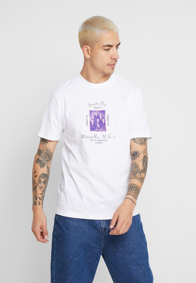 Carhartt WIP - MOTOWN SNAKE PIT - Printtipaita - white