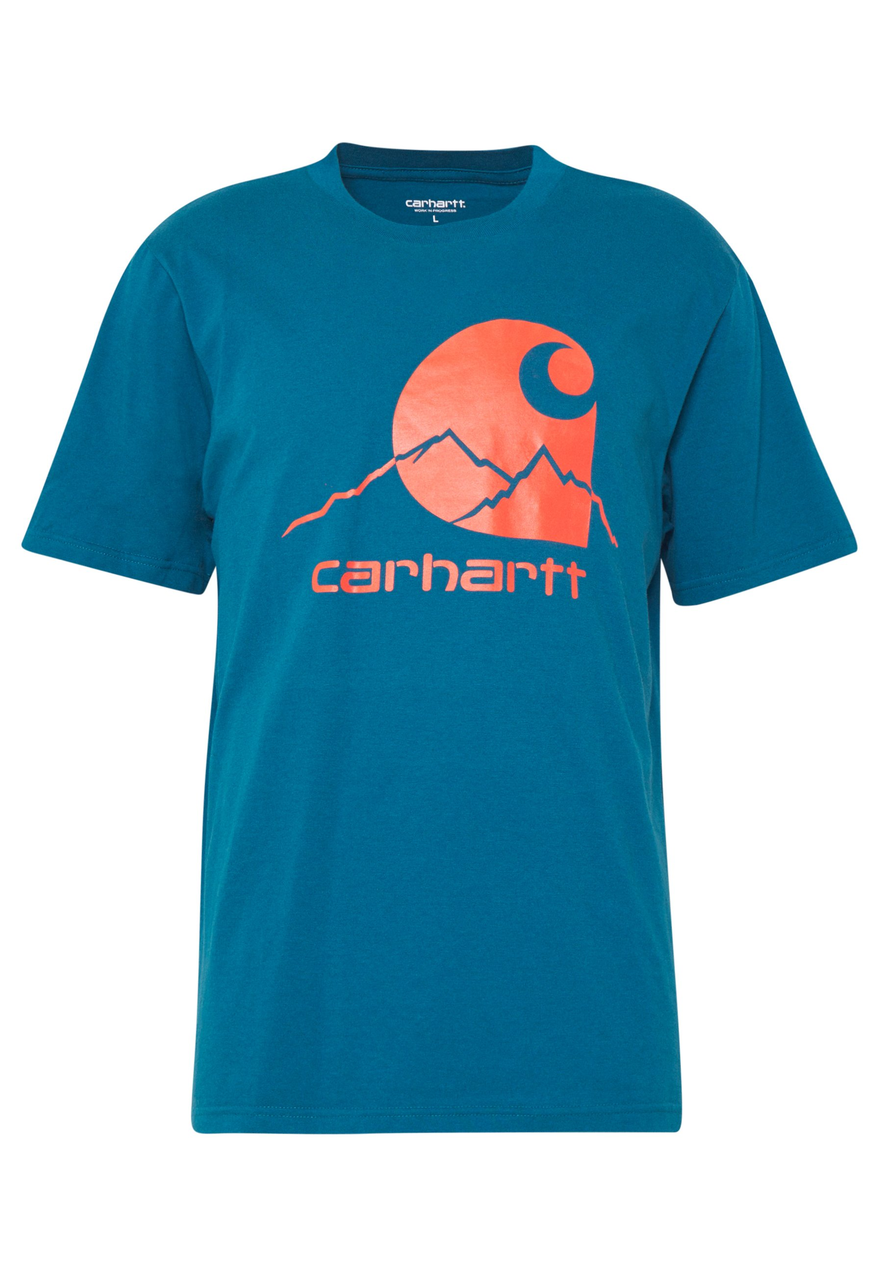 Carhartt Wip Outdoor - T-shirt Med Print Moody Blue/clockwork
