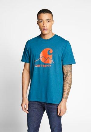 OUTDOOR  - T-shirt imprimé - moody blue/clockwork