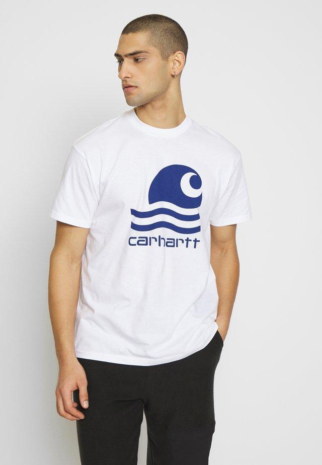 SWIM - T-shirts print - white/submarine