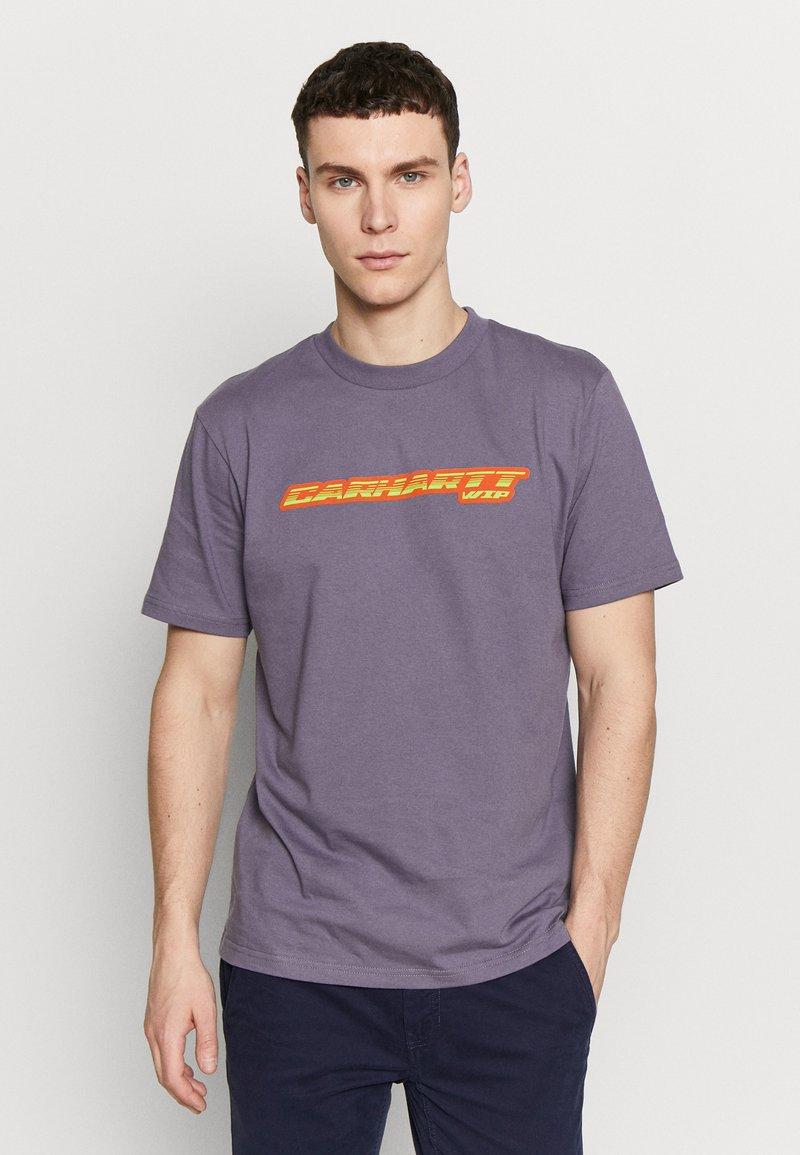 Carhartt WIP - SPORT SCRIPT - Print T-shirt - decent purple