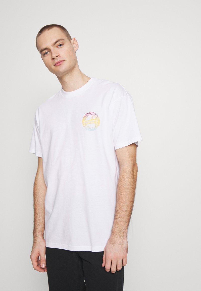 Carhartt WIP - FLAME  - T-shirt imprimé - white