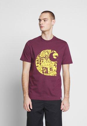 COLLAGE  - T-shirt imprimé - shiraz / sunflower