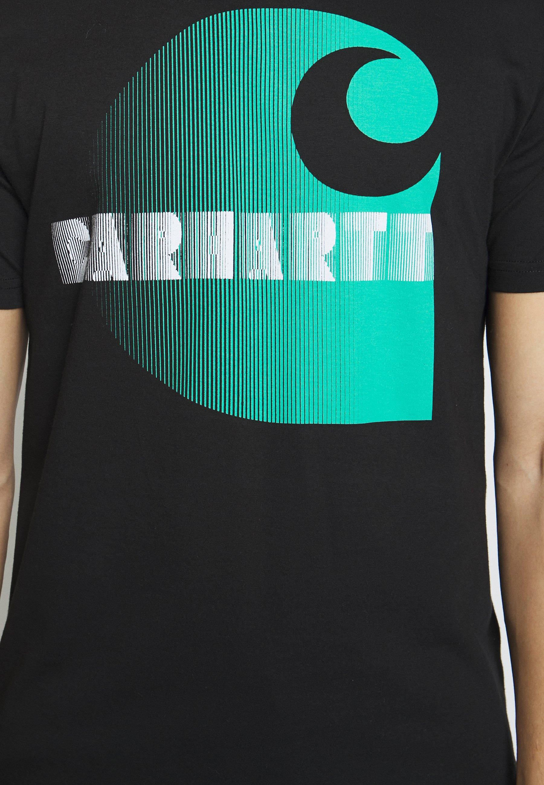 Carhartt WIP ILLUSION - T-shirt z nadrukiem - black