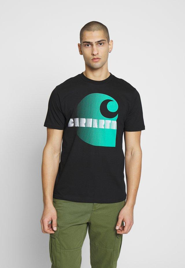 ILLUSION - T-shirt z nadrukiem - black
