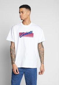 Carhartt WIP - HORIZON SCRIPT - T-shirt imprimé - white - 0
