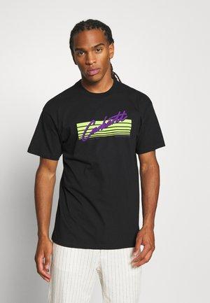 HORIZON SCRIPT - T-shirt imprimé - black