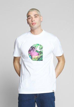 SUNSET  - T-shirt print - white