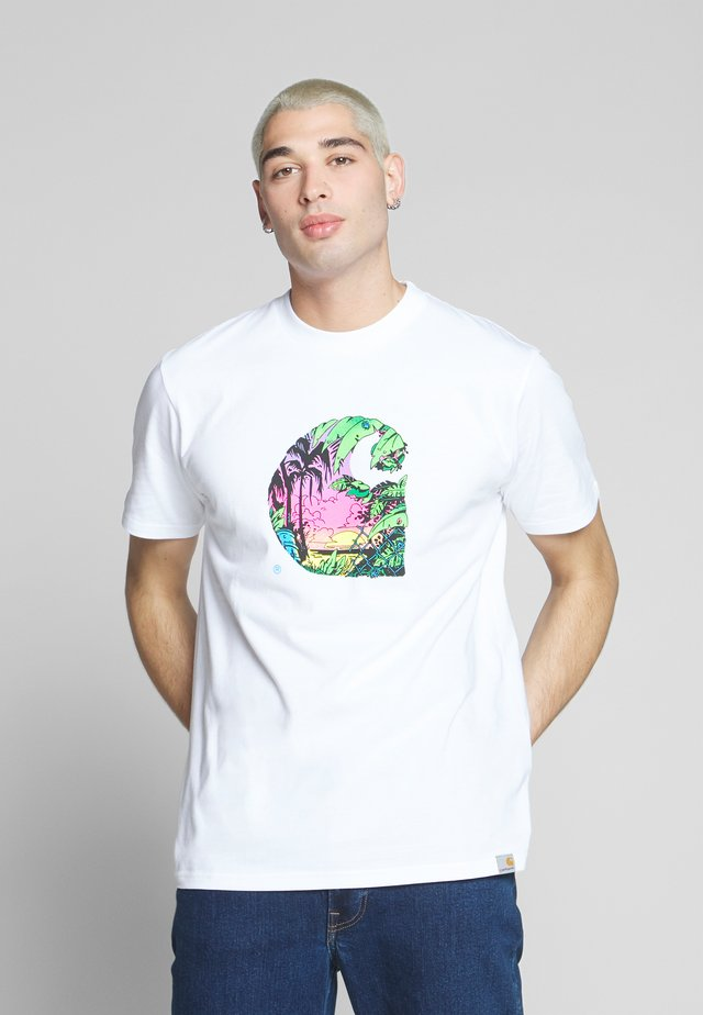 SUNSET  - T-shirt con stampa - white