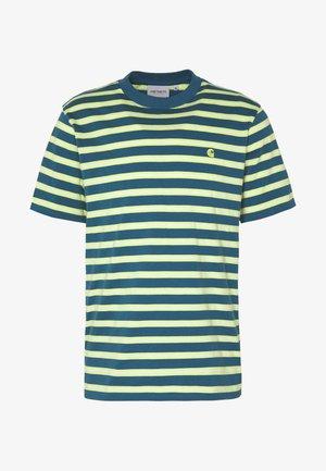 OAKLAND  - Print T-shirt - oakland stripe, moody blue / lime
