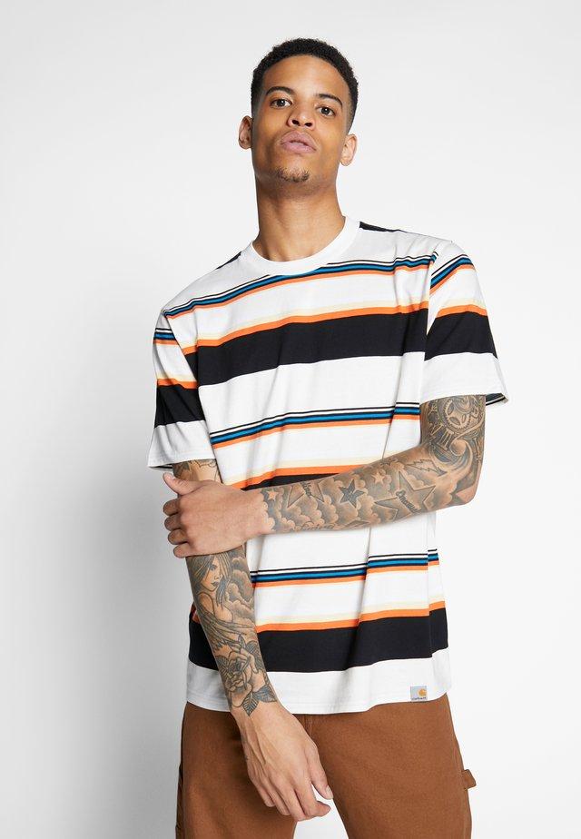 SUNDER  - Print T-shirt - sunder stripe, wax / wax