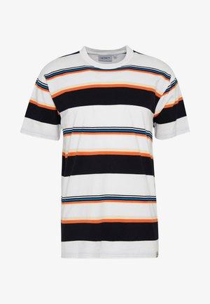 SUNDER  - Printtipaita - sunder stripe, wax / wax