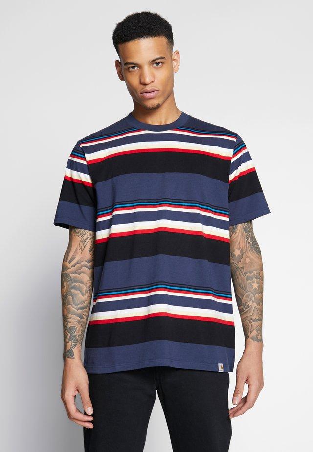 SUNDER  - T-shirt z nadrukiem - blue