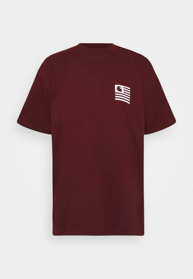 WAVING STATE FLAG  - T-shirt print - bordeaux/white