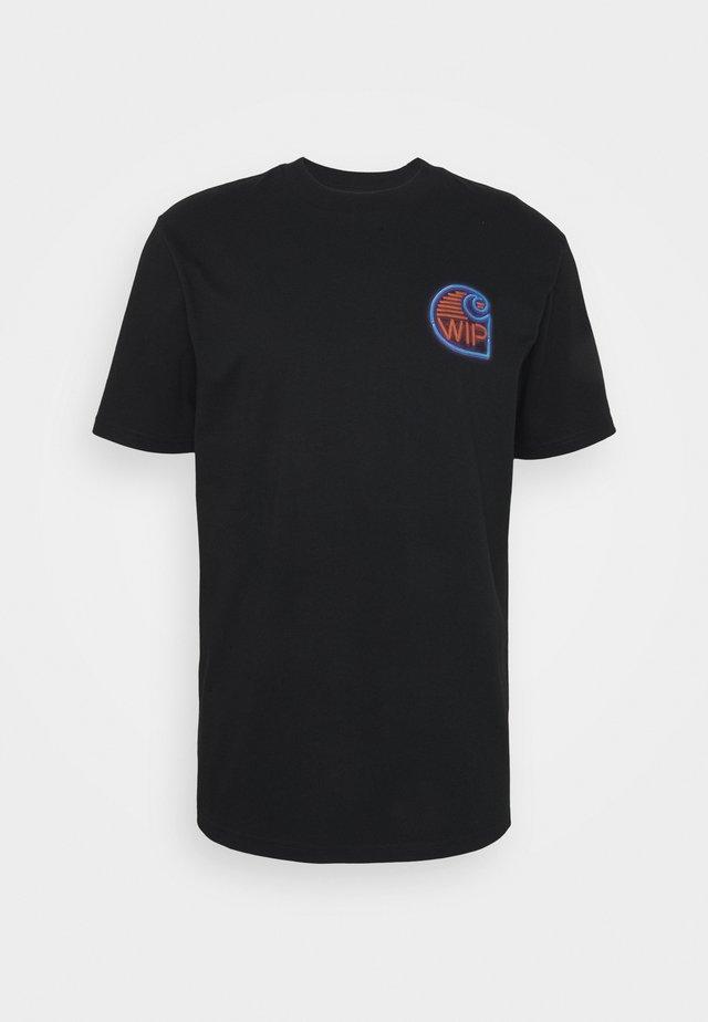 NEON CRAB - Print T-shirt - black
