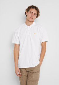 Carhartt WIP - CHASE - Polo - white/gold - 0