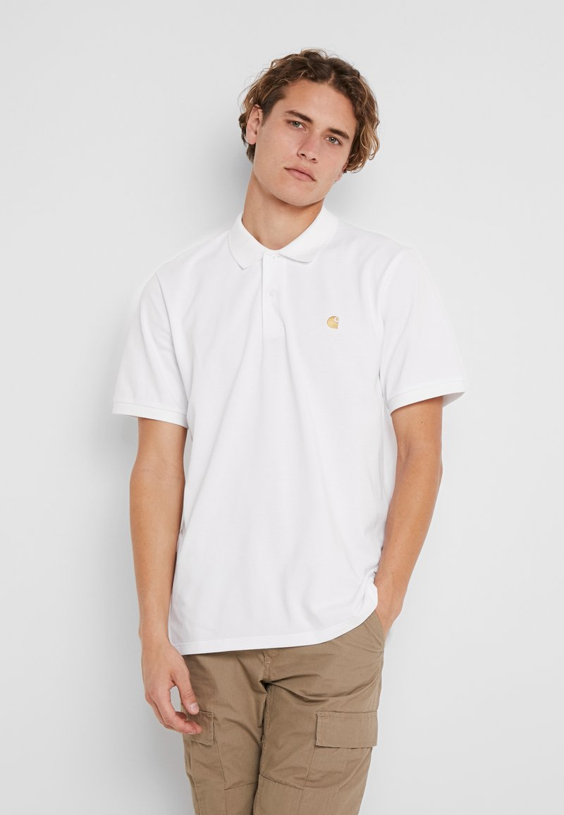 Carhartt WIP - CHASE - Polo - white/gold
