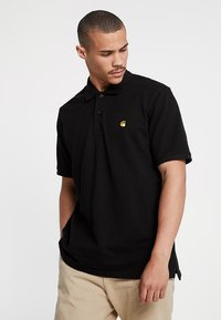 Carhartt WIP - CHASE - Poloshirt - black/gold - 0