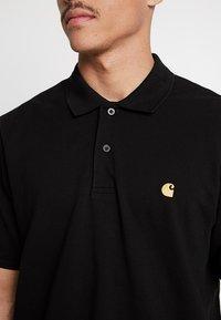 Carhartt WIP - CHASE - Poloshirt - black/gold - 4