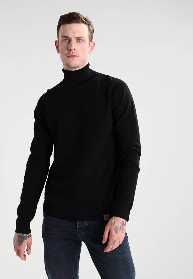 Carhartt WIP - PLAYOFF TURTLENECK - Strikkegenser - black rigid