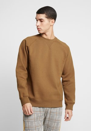 CHASE  - Sweatshirt - hamilton brown/gold