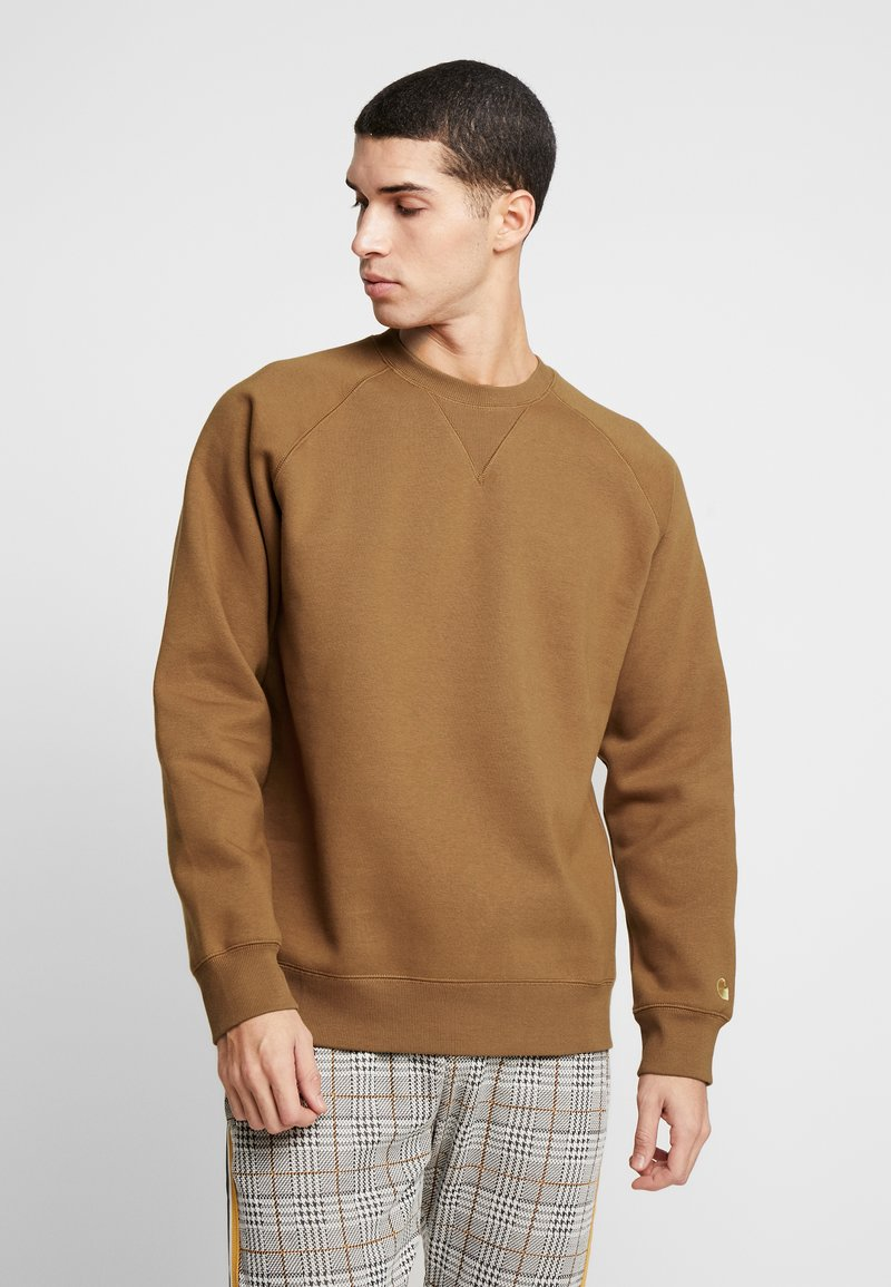 Carhartt WIP - CHASE  - Sweater - hamilton brown/gold