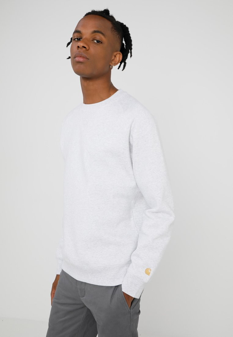 Carhartt WIP - CHASE  - Sweatshirt - ash heather/gold
