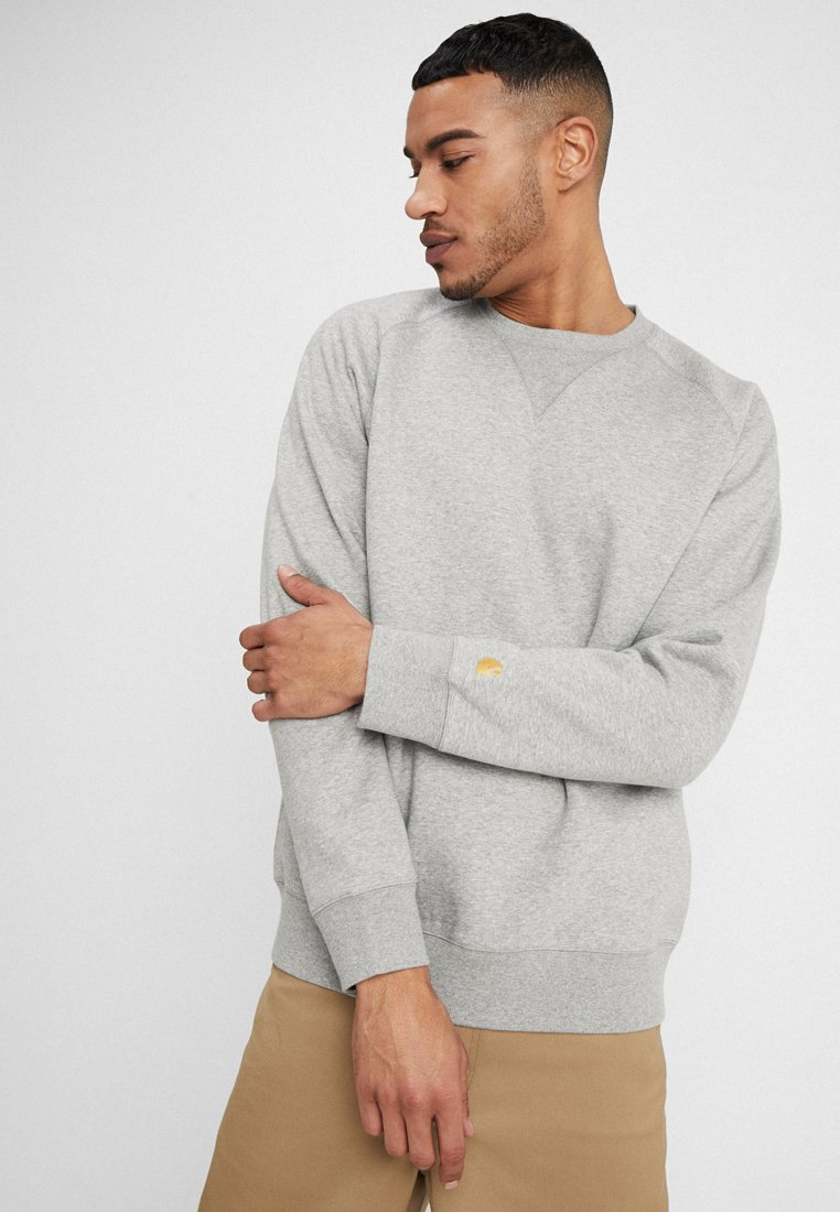 Carhartt WIP - CHASE  - Sweatshirt - grey heather/gold