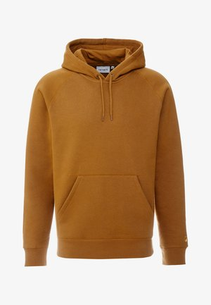 HOODED CHASE  - Kapuzenpullover - hamilton brown/gold